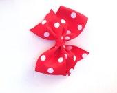 Pinwheel hair bow, girls hair bow
