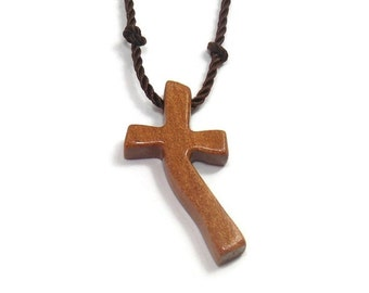 Wooden Cross Necklace - Chakte Kok Hardwood - Men's Necklace