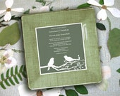 unique wedding gift - for couples -  wedding invitation plate - keepsake - decoupage plate - wedding gift idea - 1st anniversary gift