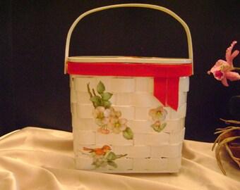 Sale, was 75. Mid century decoupage bag.