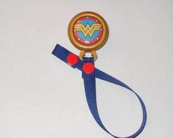 Wonder Woman Pacifier Clip