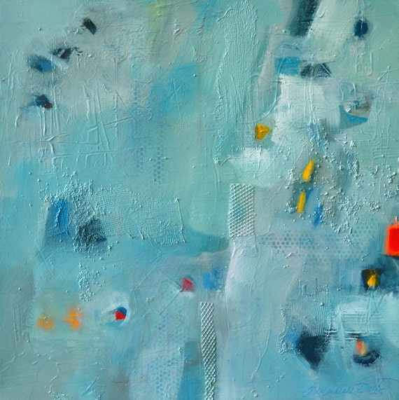 "Abstract Modern Art Expressionist Contemporary Acrylic Large Painting on Canvas 24""x24"" - STUDIO SALE - by Filomena Booth"