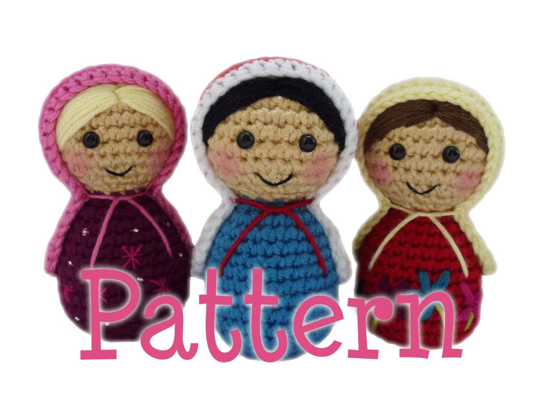 Amigurumi Russian Dolls : Crochet Russian Doll Pattern Amigurumi