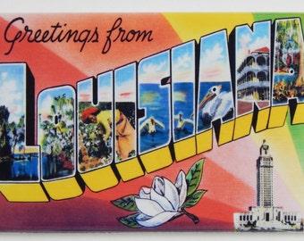 Greetings from Louisiana Fridge Magnet