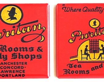 Puritan Tea Room Fridge Magnet Set