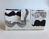 Moustache Wallet // Magnetic Closure // Stache // Handmade Wallet // Hipster Wallet