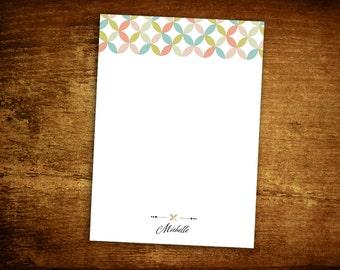 Personalized Notepad - Monogram Notepad - Personalized Note Pad - Kaleidoscope