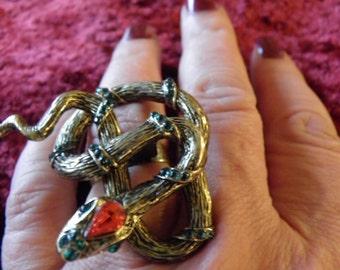 Chunky, Bold Snake Ring