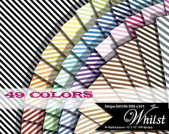Stripe digital paper scrapbook background classic with black white : b0190 Wh v301