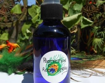 Protection Room Spray 4oz cobalt glass bottle
