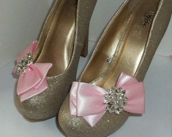 Shoe Clips, Wedding Shoe CLips, Bridal Shoe Clips, Bow Shoe Clips, Crystal SHoe Clips, Rhinestone Shoe Clips, Wedding Shoes Clips, Clip Ons