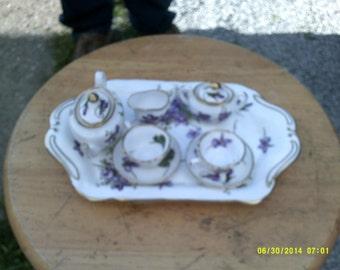 Miniature Hammersly Tea Service