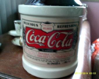 Vintage Coca Cola Wine Jug Cookie Jar