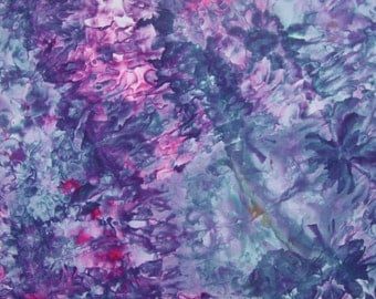 Ice Dyed Fabric, Hand Dye, Jazzberry, Fat Quarter (MB) #41