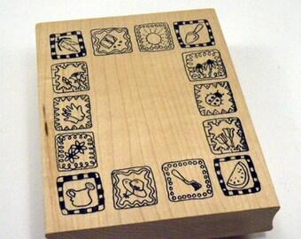 Garden Frame Rubber Stamp