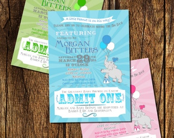 Carnival Baby Shower Invitation