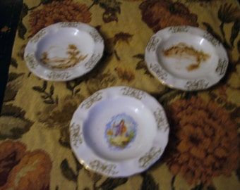Winterling Bavaria Porcelain Germany Ashtrays Set of 3