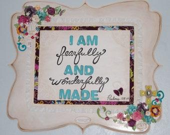 Shabby Chic Art, Vintage, Christian Art, Girls Nursery Art, Inspirational Art, Wall Hangings