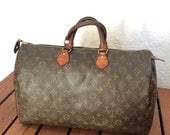 80s Authentic Vintage Louis Vuitton Monogram Speedy 40 Satchel Bag