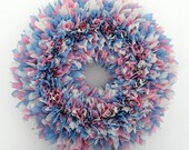 Pink and Blue Wreath - Gender Reveal Wreath - Baby Shower Wreath - Indoor Outdoor Wreath - Door Wreath - Spring Wreath - Baby Shower Decor