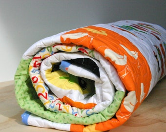Half Price Discount - End of Line Item - Baby Boy Quilt or Toddler Quilt - Crib Quilt - Discontinued Sale Item