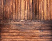 Two In One 8ft x 16ft Vinyl Photography Backdrop / Dark Grungy Wood