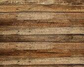 9ft x 8ft Vinyl Photography Backdrop / Western Wood / HORIZONTAL