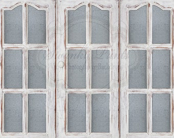 NEW ITEM 8ft x 7ft Vinyl Photography Backdrop / Shabby Cottage Window