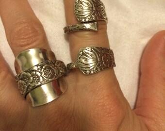 Hiawatha/Flower 1886 Demitasse Spoon Ring -- choose your style