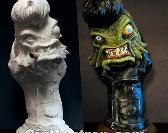 Greaser from the Booze Lagoon Bust Sculpture (Creature from the Black Lagoon)
