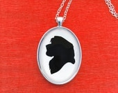 Simba Silhouette Cameo Pendant Paper Cutting Necklace