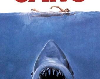 Jaws movie, Jaws film, shark pattern, shark- cross stitch, animal cross stitch, pattern cross stitch, classic pattern,- DIGITAL DOWNLOAD