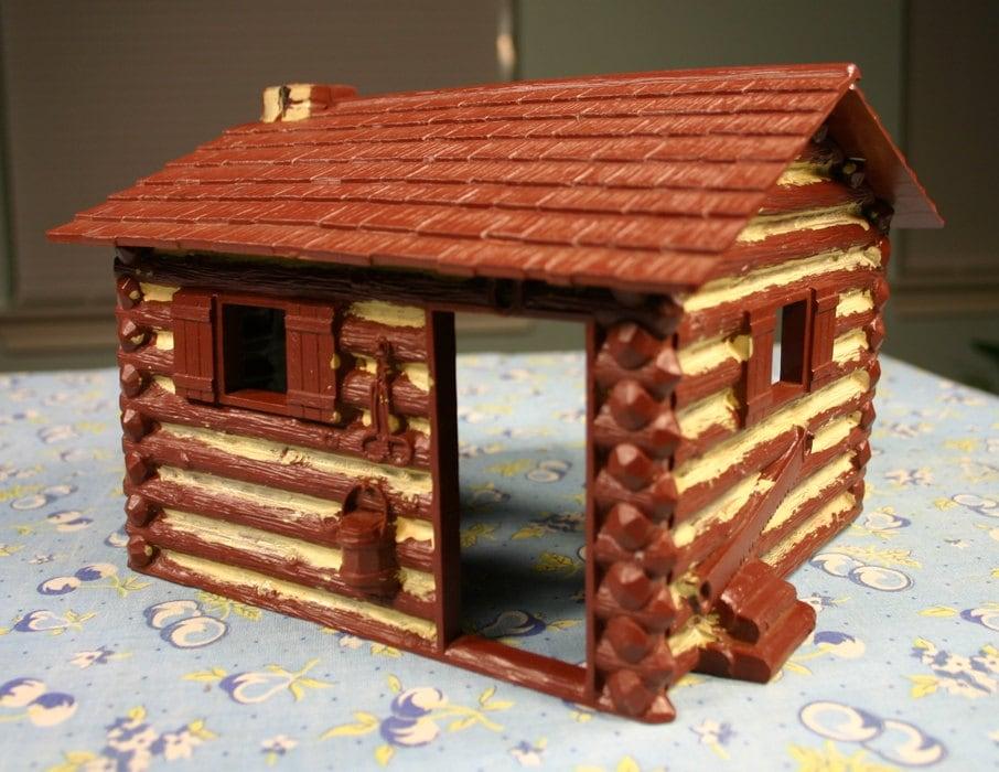 vintage 1950 39 s plastic snap together toy log cabin