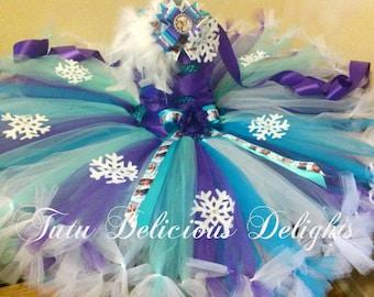 Frozen Tutu Dress Purple Turquoise White ~ Frozen Birthday Tutu~ Elsa Dress~ Anna Dress~ Frozen Outfit~ Pageant Dress~ Photo Prop