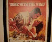 "FRANKLY MY DEAR.....Vintage Framed Movie Poster of the Movie  ""Gone With The Wind"" (1939)  Very Large Size Poster in Vintage Condition"