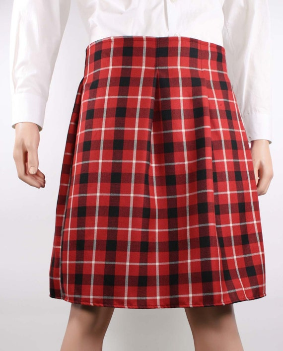 Red Black Plaid Scottish Irish Kilt Costume Adult by SkirtStar