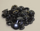 Line 24 Snaps, Black Enamel, Solid Brass, will not rust 10/pk