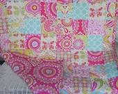 Toddler Patchwork Quilt - Kumari Garden Fabrics - One of a Kind Quilt Designs - Choose Your Own Fabrics