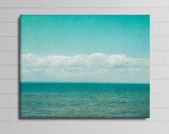 Aqua Canvas Photography, Large Wall Art, Ocean Canvas Art, Beach House Decor, Water Artwork, Bedroom Picture