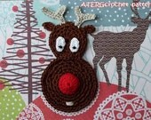Crochet pattern RUDOLF reindeer by ATERGcrochet