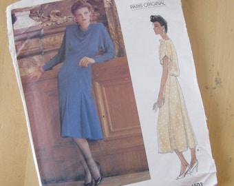 Uncut Vintage Vogue Sewing Pattern 1503 - Chloe - Misses Dress -  Size 12