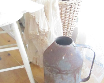 French Country Market  Vintage  rusty Milk  cream can French Country Prairie