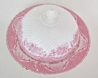 19th Century Fine French Porcelain Covered Butter Dish ON SALE Final Price
