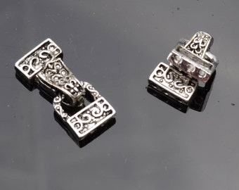Antique Silver Fold over Magnetic Clasp - 2 pack #W0078