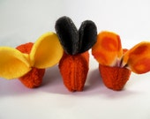 Upcycled Furry Orange Organic Catnip Mouse