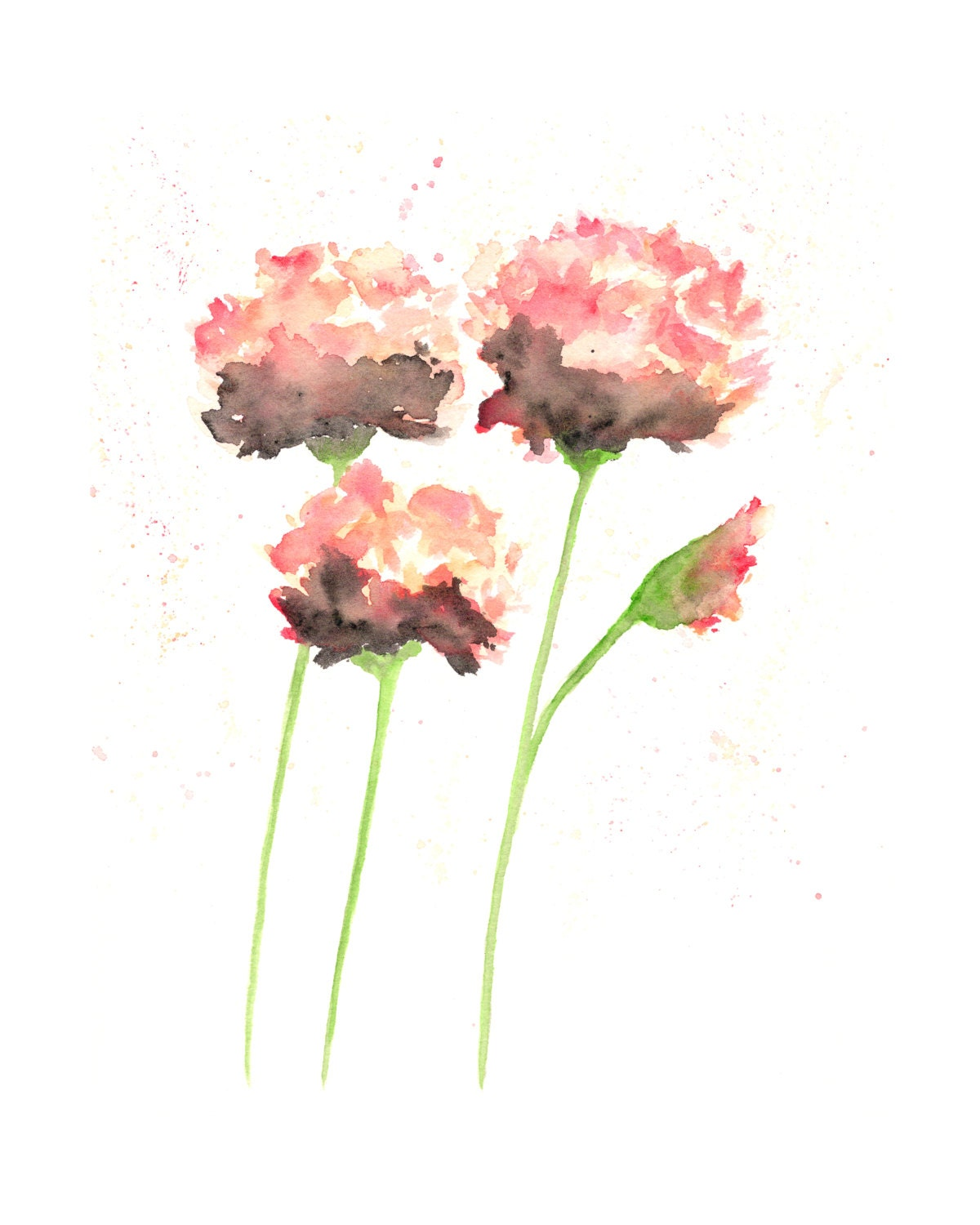 Watercolor Flower Painting: Watercolor Flowers French Country Watercolor Painting
