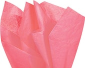 "Tissue Paper 24 sheets Coral Rose Soild  DIY Coral Wedding Decor Craft Supplies  20"" X 30"" Gift Wrap, Favor Box Tissue, DIY Pom Pom Supplies"