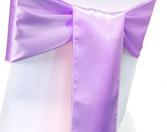 Chair Sashes. 50  Lavender  Wedding Chair Sashes Chair Bows  Satin Pew Bows Party Bows Event