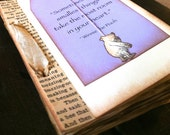 Baby Shower Guest Book, Baby Shower Wishes, Lavender Purple, Wish Tag, Winnie the Pooh, Vintage Book Page, Literature Baby Shower