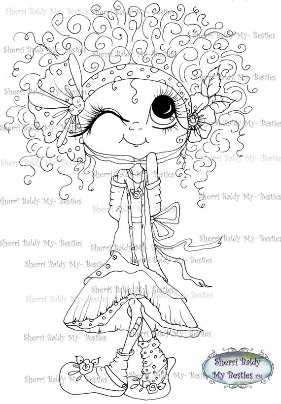 INSTANT DOWNLOAD Digital Digi Stamps Big Eye Big Head Dolls Digi  Messy Bessy Besties IMG381 By Sherri Baldy